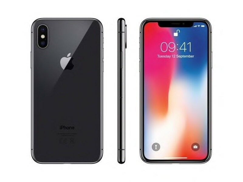 iPhone X, 64 GB, sort