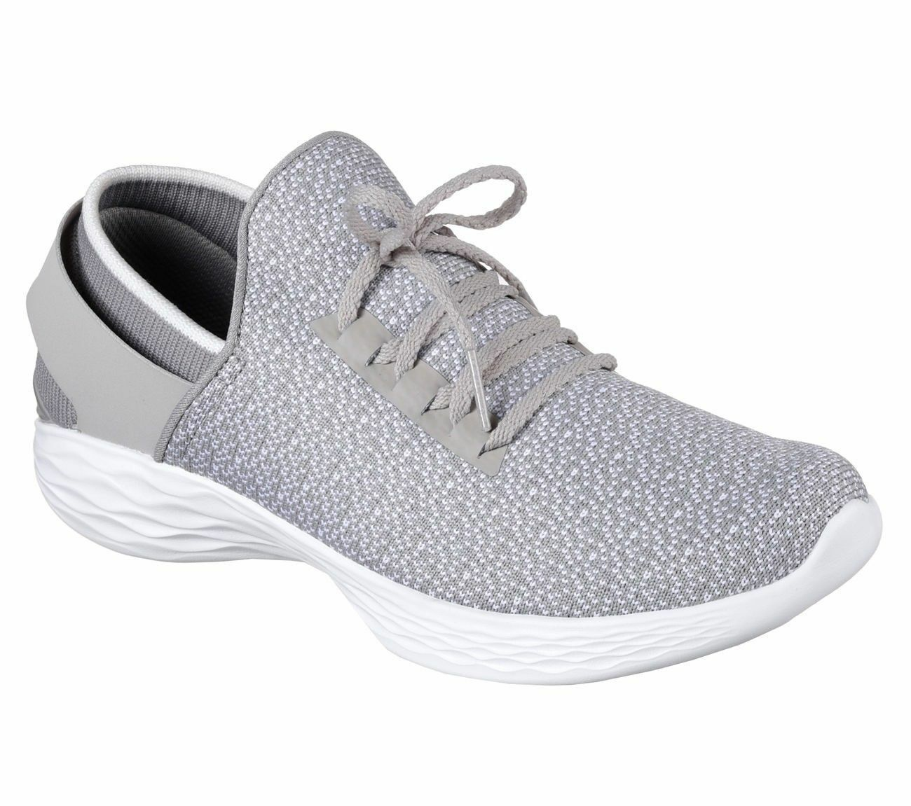 NEW Women's Gray Skechers You Inspire Go Walk 4 Slip On Shoes Size 7.5 Free Ship
