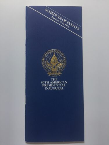 1985 President Ronald Reagan Inauguration Inaugural Schedule of Events Booklet