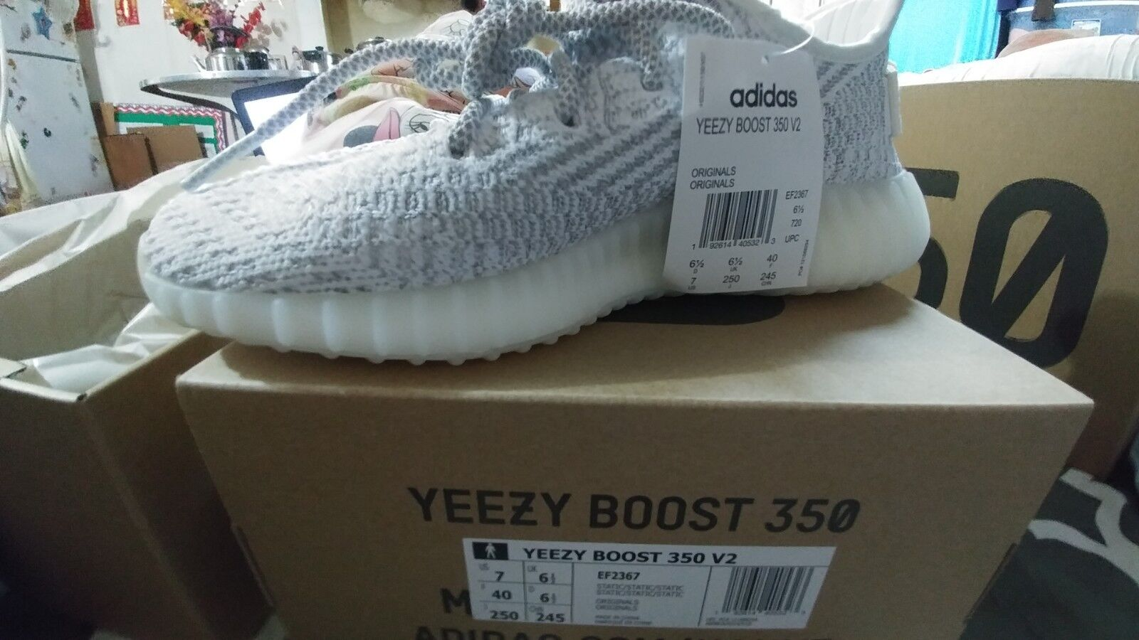 0e28f6a24df6d Adidas Yeezy 350 V2 Static Static Static Size 7 NEW Reflective BOOST  nruvzn8463-Athletic Shoes