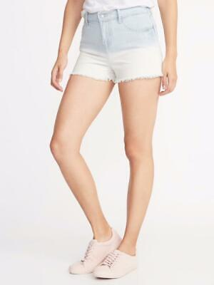 Details about  /OLD NAVY by Gap ~ New NWT Plus 24 ~ OMBRE Dip Dye CUT-OFF Denim Jeans Shorts