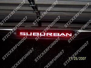 Chevy Suburban 3rd Brake Light Vinyl Sticker Fits 2000