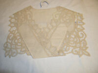 Ladies Vintage Removable Beige Battenburg Lace Collar- 100% Cotton By Wang's Int
