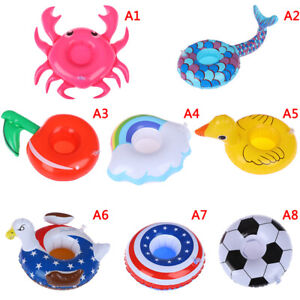 Inflatable-mini-floating-drink-can-cup-holder-swimming-pool-beach-party-toys-FT