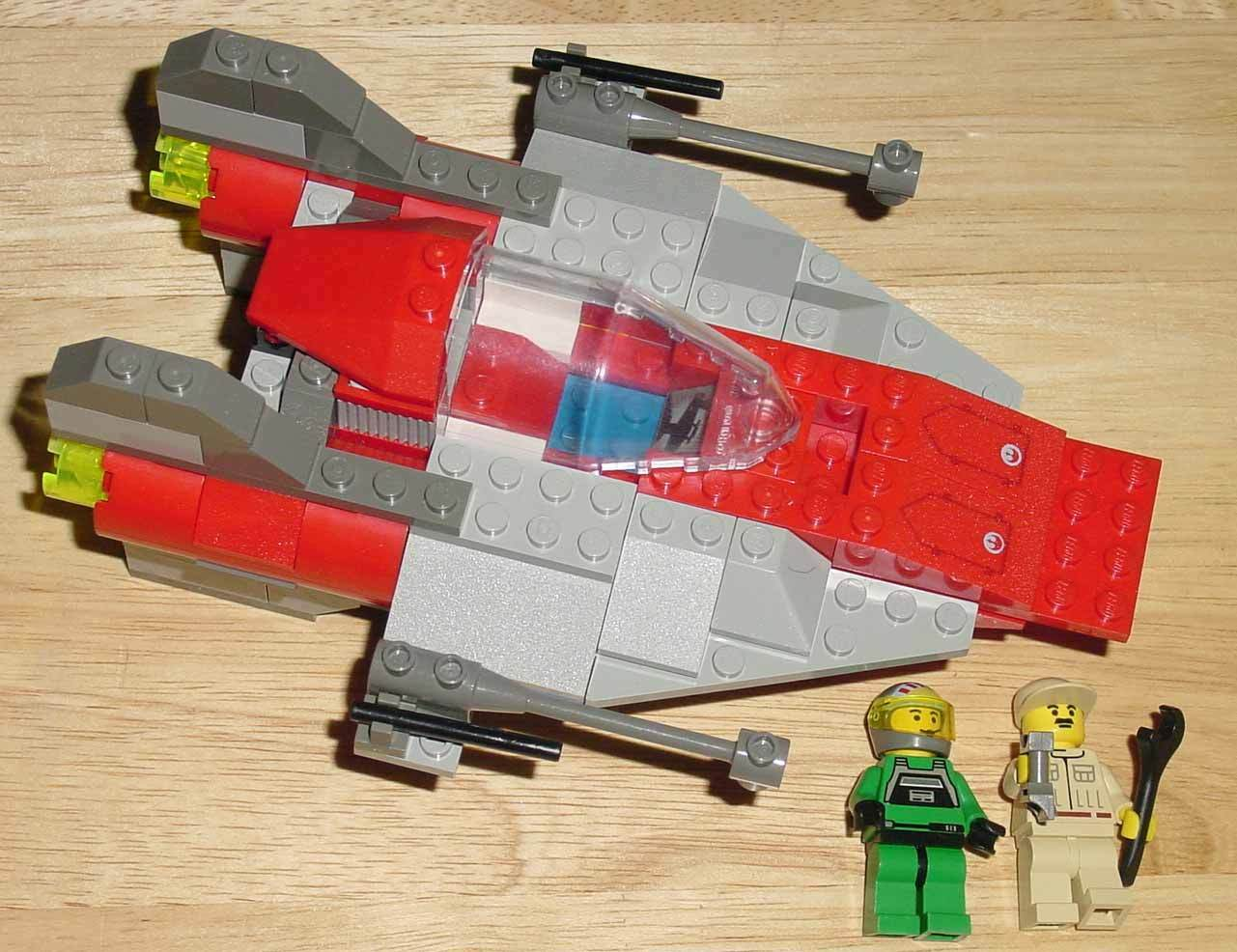 LEGO LEGO LEGO 7134 STAR WARS A-WING FIGHTER COMPLETE - OPENED BOX - WITH INSTRUCTIONS a68e5e