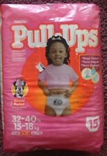 Vintage 2000 Minnie Mouse Huggies Pull Ups Diapers ABDL couche windel (pk of 15)
