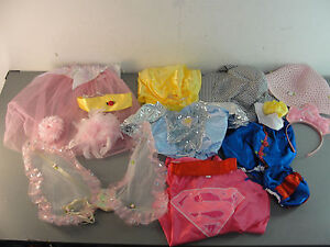 DRESS UP COSTUME SNOW WHITE BUTTERFLY WING HAT HEADBAND GOWN PRETEND PLAY LOT 15