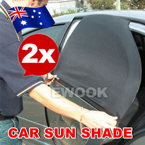2x-Car-Rear-Side-Window-Sun-Shade-Mesh-SUV-UV-Protection-Large-pair