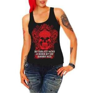 Blusen, Tops & Shirts Damenmode AnpassungsfäHig Frauen Trägershirt Top Geiler Lustiger Ego Spruch Teufel 666 Hölle Goth Gothik