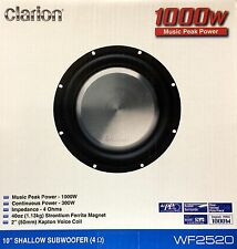 "NEW Clarion WF2520 10"" WF Series Shallow Mount, SVC, 4 Ohm Subwoofer"