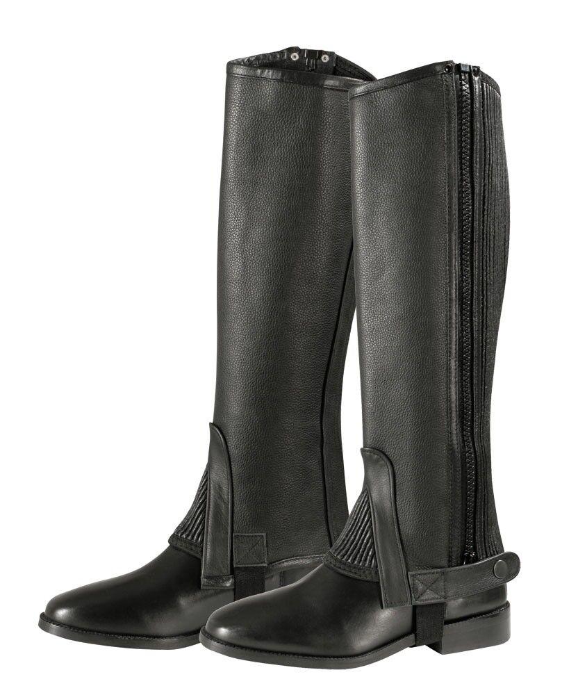 Minichaps Leder Pfiff schwarz schwarz schwarz NEU 9b8f9b