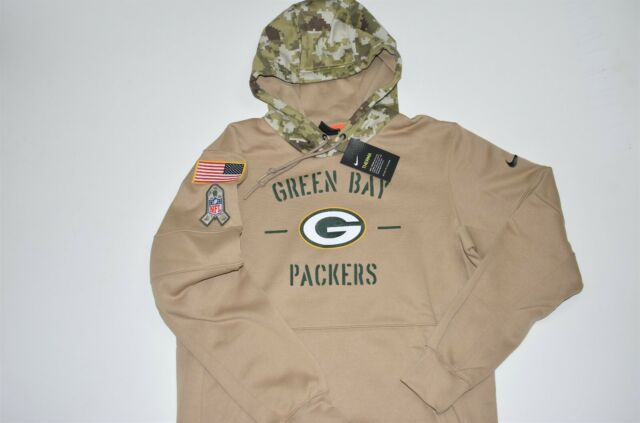 Nike Mens Salute to Service Green Bay Packers Hybrid Full Zip Jacket Medium