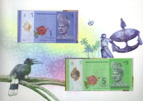 Malaysia 1-100 Ringgit 2012 UNC**New matching identical w// folder Polymer