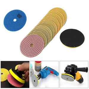 11pcs-Diamond-Polishing-Pads-4-034-Grinder-Disc-For-Granite-Marble-Concrete-Stone