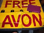 Avon Advertising Banner Sign Order Form Cover Sales Representative