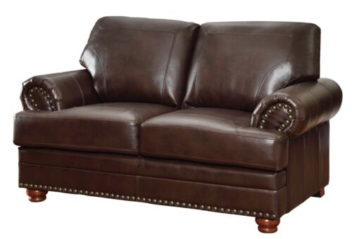 Traditional Living Room 3-Piece Sofa Loveseat /& Chair Couch Set Faux Leather