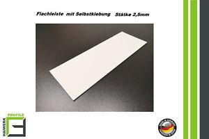 Kunststoffleiste-selbstklebend-20-120mm-Abdeckleiste-Flachleiste-Fensterleisten