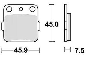 Jeu 2 plaquettes de frein Arrière qualité pr YAMAHA YFM 350 X WARRIOR 1987-2004
