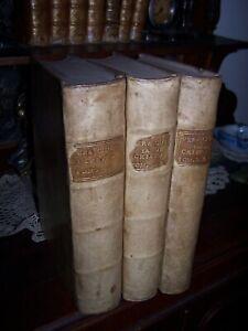 1734-Gotti-La-Vera-Chiesa-di-Cristo-Opera-completa-3-volumi-Ril-Pergamena