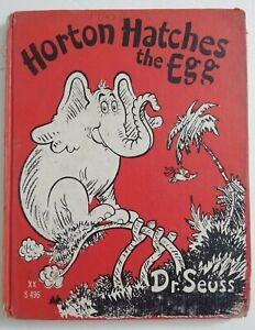🔥DR. Suess Horton Hatches The Egg - 1940 EDITION (1st year printed) Macmillan