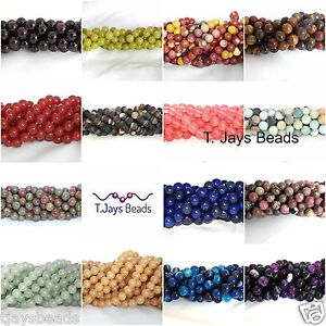 10mm-Semi-Precious-Gemstone-Rounds-Beads-Jewellery-Making-approx-36-40-beads