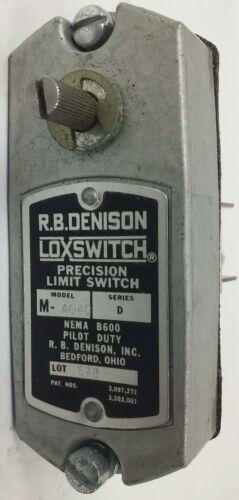 MODEL M R.B.DENISON M4040 SERIES D PRECISON LIMIT SWITCH NEMA B600 600V 30A