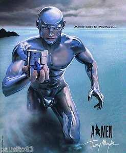 PUBLICITE ADVERTISING 075 2002  AMEN  parfum homme de THIERRY MUGLER