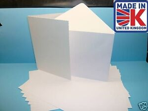 50 a5 350gsm white greeting card blanks with envelopes 7625703341927 image is loading 50 a5 350gsm white greeting card blanks with m4hsunfo