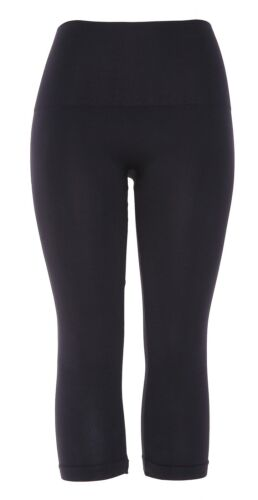 Spanx Look At Me Now Cropped Seamless Black Leggings 64809 Size XS