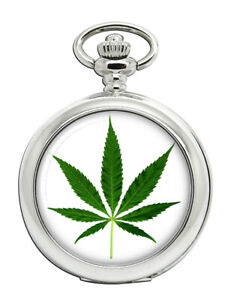 Marijunana-Cannabis-Blatt-Taschenuhr