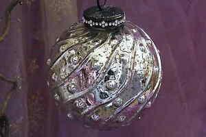Bauernsilber Christbaumkugeln.Christbaumkugel Weihnachtskugel Bauernsilber Kugel Mit Noppen Silber