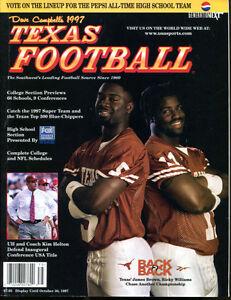 1997-Dave-Campbell-039-s-Texas-Football-Magazine-Ricky-Williams-Longhorns-Ex