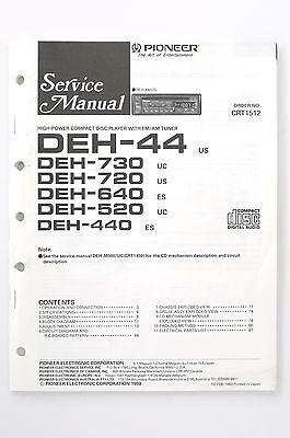 Pioneer DEH-44 /730/720 /640/520/440 Original Service Manual/Wiring Diagram!    eBayeBay
