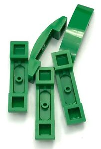 Lego 5 New Green Slopes Curved 2 x 1 No Studs Sloped Pieces