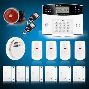 wireless lcd gsm home security burglar house fire alarm system auto dialer pg500 ebay. Black Bedroom Furniture Sets. Home Design Ideas
