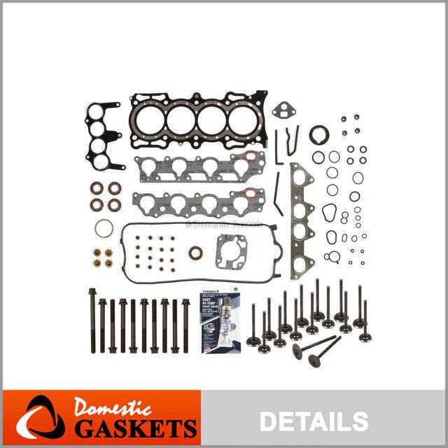 Head Gasket Set Intake Exhaust Valves Fit 98-02 Honda