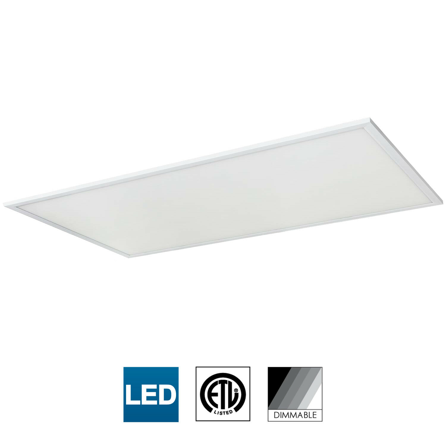 Sunlite panel de luz LED, Pie de 1x2, 24W, 3500K blancoo Cálido, Regulable