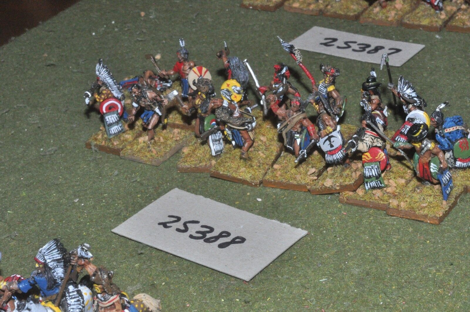 25mm ACW   old west - indian 16 figures - inf (25388)