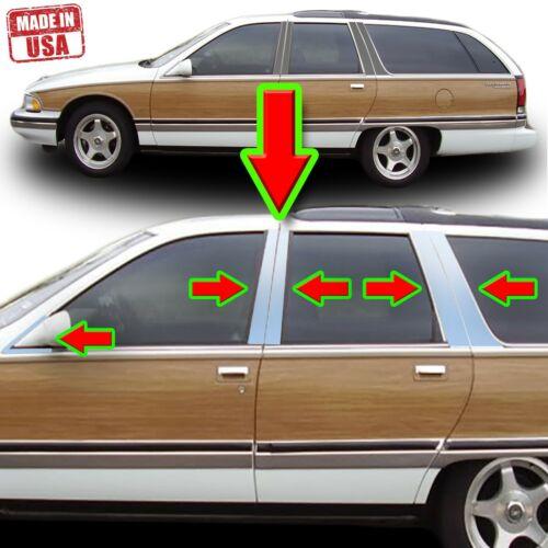 Chrome Pillar Trim for Buick Roadmaster 92-96 12pc Set Door Post 5dr Wagon