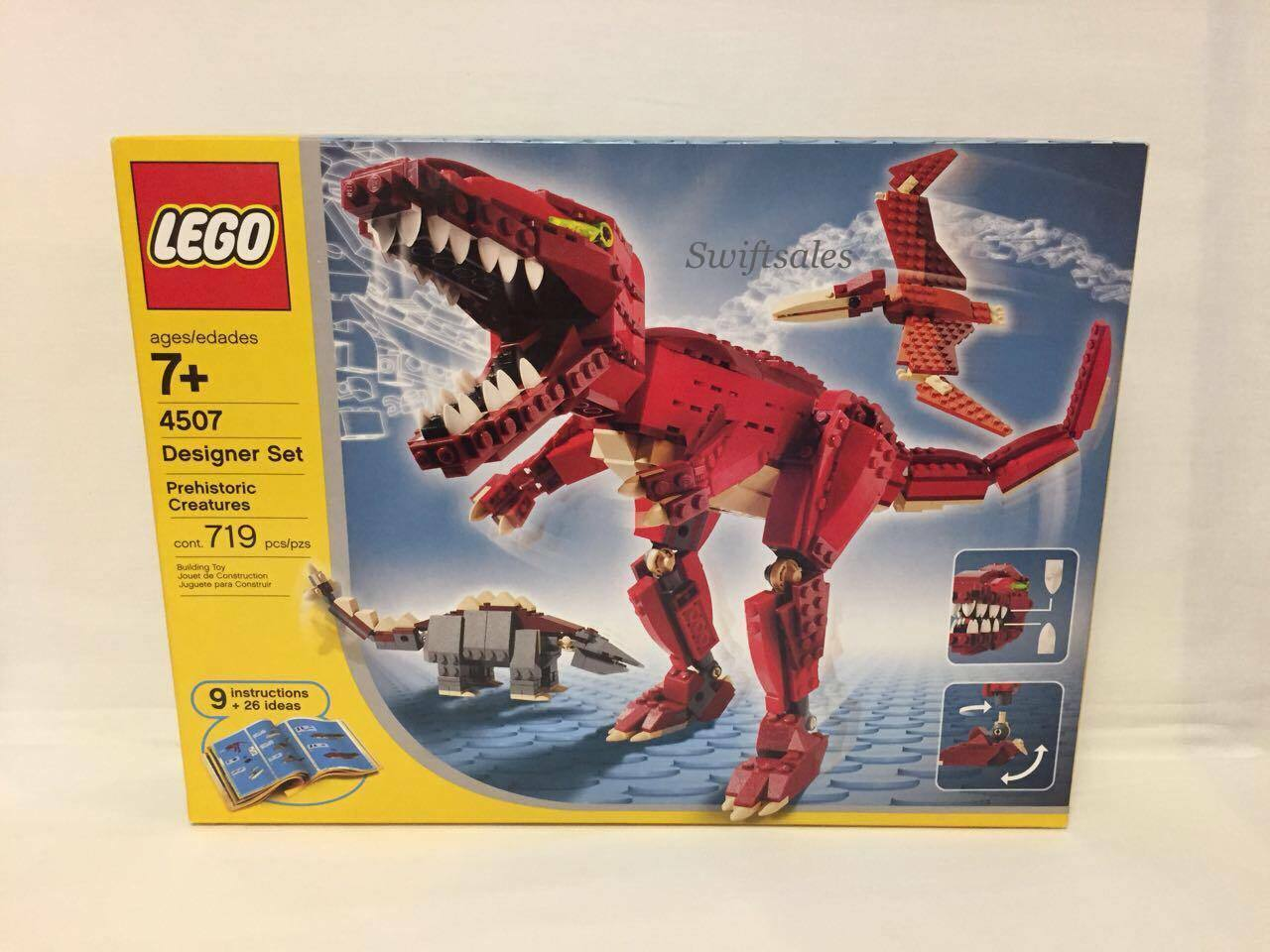 Lego 4507 Designer Set Prehistoric Creatures 2004 Retired Set - New Sealed Box