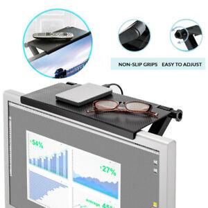 Unique Computer Monitor Riser Desktop Stand TV Rack Display Shelf Storage Desk