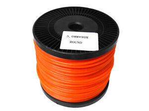 Brushcutter-Strimmer-Trimmer-Nylon-Cord-Line-3-0mm-x-90m-Long-ROUND-3mm