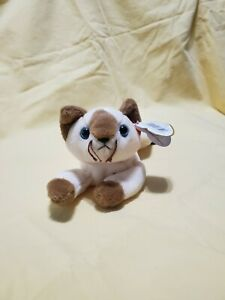 TY BEANIE Babies SNIP the Siamese Cat 1996 RETIRED With Tag