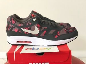 2014 Ds Nike Air Max 1 Prm Tape Pewter Brown Camo Size 13 Atomic Red