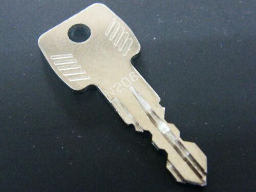 THULE chiave n206 N 206 Chiave di ricambio per supporto post BOX DA TETTO PORTAPACCHI
