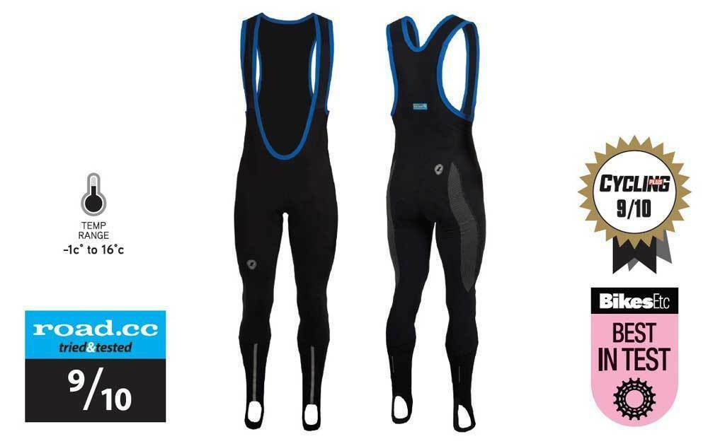 LUSSO MENS CYCLING REPEL NITELIFE CYCLING BIKE BIB TIGHTS W PAD s m l xl xxl