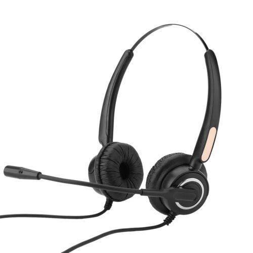 Call Center Headset Headphone Noise Cancelling Mic Corded Telephone Headphone