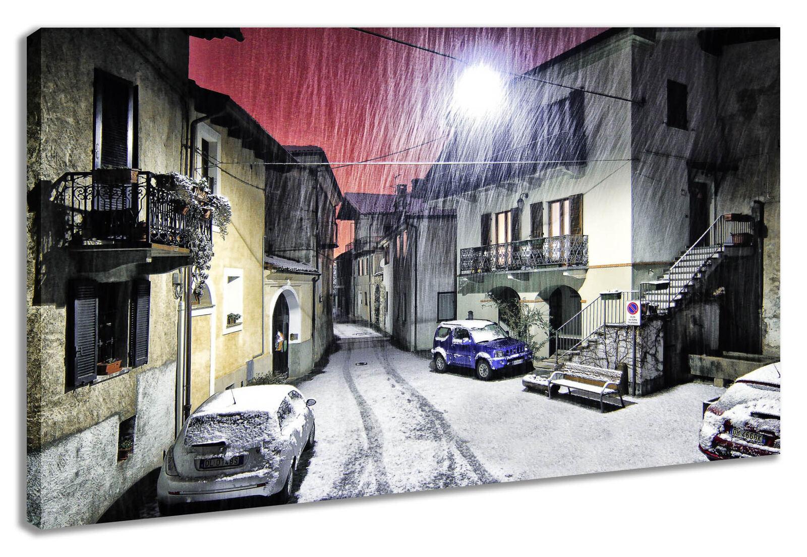 Leinwandbild Wandbild   Italien Montestrutto Schnee Winter Landschaft