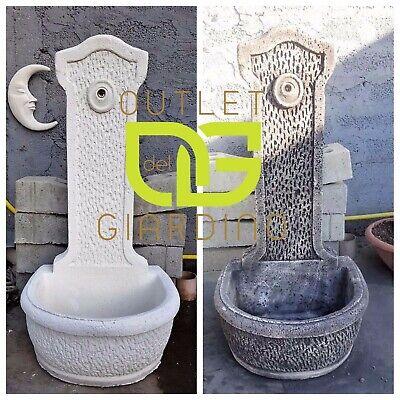 Fontana Fontanella Esterno Punto Acqua Quadrato Metallo 14x14x100H Cm Antracite