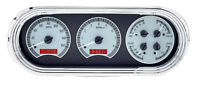 Dakota Digital 63 64 65 Chevy Nova Analog Dash Gauges Silver Red Kit Vhx-63c-nov